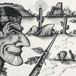 """""""Desert Warrior"""" by cartoonartstudios"""