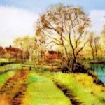 """The Stile in Springtime"" by valzart"