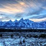 """Tetons in Blue"" by RHMiller"