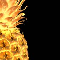 """14gr Abstract Expressive Pineapple Digital Art"" by Ricardos"