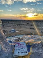 salvation mountain sunset