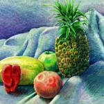 """Pineapple & fruit still life"" by sboyle"