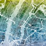 """New York City Street Map"" by ModernArtPrints"