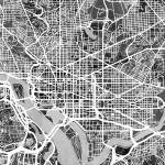 """Washington DC Street Map"" by ModernArtPrints"