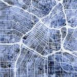 """Los Angeles City Street Map"" by ModernArtPrints"
