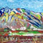 """Mt San Jacinto Sprin Snow Abstract 2016"" by BeaconArtWorksCorporation"