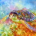 """Sea Turtle 3"" by HaileyWatermedia"