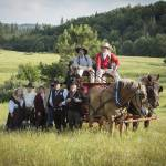 """Reenactors Pose with a Horse Drawn Wagon"" by SederquistPhotography"