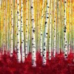 """Silver Birches"" by HaileyWatermedia"