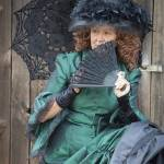 """Re-enactor with Old Fashioned Green Dress"" by SederquistPhotography"