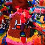 """Colorful Knit Masks"" by rhamm"
