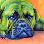 """Dog Tired"" by HaileyWatermedia"
