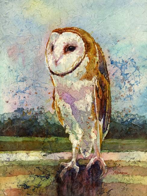 Stunning Quot Owl Quot Watercolor Painting Reproductions For Sale