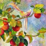 """Birds on Apple Tree"" by HaileyWatermedia"