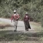 """John Wayne and Kitty LeRoy, Re-enactors"" by SederquistPhotography"