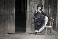 Re-enactor Posing as Villain Belle Starr