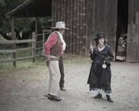 Re-enactors John Wayne and Belle Starr