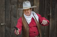 John Wayne with Gun