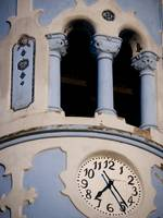 Blue Church Clock