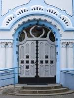Blue Church Entrance