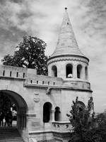 Fisherman's Bastion in Black & White