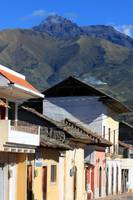 Mountain Town Near Mount Cotacachi