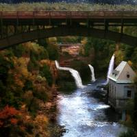 Autumn Falls Art Prints & Posters by RC deWinter