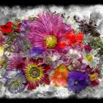"""7e Abstract Floral Painting Digital Expressionism"" by Ricardos"