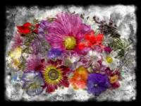 7e Abstract Floral Painting Digital Expressionism