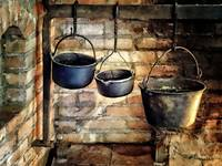 Three Pots in Colonial Kitchen