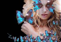BLUE BUTTERFLY WOMAN