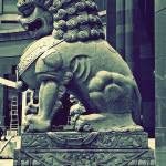"""Chinese Guardian Stone Lion"" by sghomedeco"