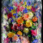 """17a Abstract Floral Painting Digital Expressionism"" by Ricardos"
