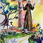 """Saint Francis of Assisi Chrisitan Symbolism"" by GinetteCallaway"