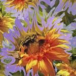 """Sunflowers Rising 25"" by LyndaLehmann"