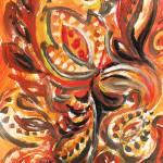 """Abstract Khokhloma"" by IrinaSztukowski"