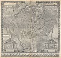 Vintage Map of Paris France (1652)