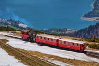 Steam Train at Schafbergspitze Station
