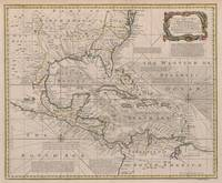 Vintage Map of The Caribbean (1720)