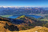 Lake Wolfgangsee, the Alps and Schafbergalm