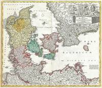 Vintage Map of Denmark (1730)