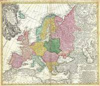 Vintage Map of Europe (1743)