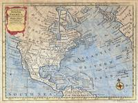 Vintage Map of North America (1747)