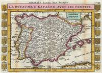 Vintage Map of Spain and Portugal (1747)