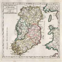 Vintage Map of Ireland (1748)