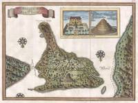 Vintage Map of Bali Indonesia (1760)