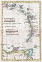Vintage Map of The Antilles Islands (1780)
