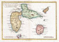 Vintage Map of Guadeloupe (1780)
