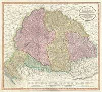 Vintage Map of Hungary (1799)