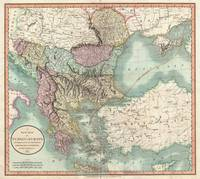 Vintage Map of The Balkans and Turkey (1801)